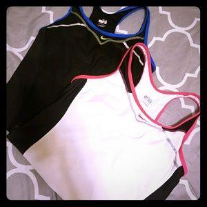 2 Nike Dri Fit workout tops